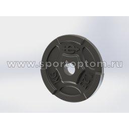 Диск чугунный окрашенный 26 мм EURO CLASSIC EK-211                    1,25 кг Черный