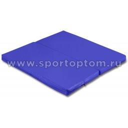 Мат гимнастический складной SM-108  Синий (1)