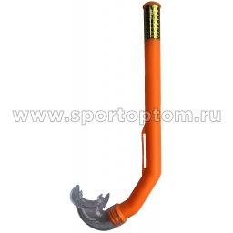 Трубка для плавания детская (с загубником, маскодержатель) 301 Оранжевый