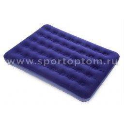Кровать BW флок 2-местная 67002 191*137*22 см Синий