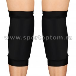Наколенник для гимнастики и танцев INDIGO NORA удлинённый усиленный  SM-377 L Черный