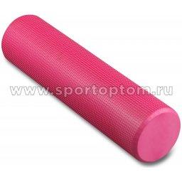Ролик массажный для йоги INDIGO Foam roll  IN022 15*60 см Розовый