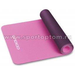 Коврик для йоги и фитнеса INDIGO TPE двусторонний  IN106 173*61*0,5 см Розово-фиолетовый