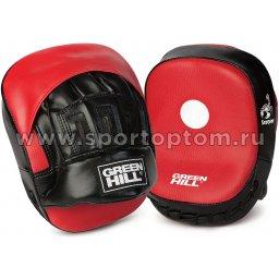 Лапа боксерская изогнутая Green Hill SCORPION (пара)  FMС-5249 22*16*13 см Красно-черный