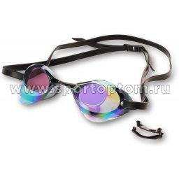 Очки для плавания INDIGO RATA зеркальные стартовый сменная переносица 2555-8 Черный