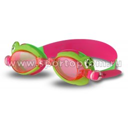 Очки для плавания детские INDIGO  Тюлень  1765 G Розово-зеленый