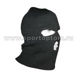 Шапка-маска CAP-MTR-KN-BL-3 вязан. черн. 3 отверстия 1069 TR Черный