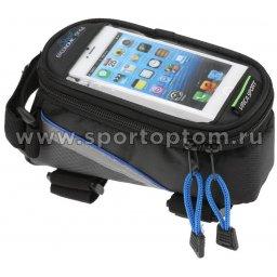 Вело Сумка на раму с отделением для телефона FB-07S 180*85*85мм Черно-синий