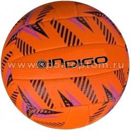 Мяч волейбольный INDIGO SAND любительский шитый (PU) IN162 Оранжево-черный