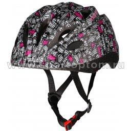 Вело Шлем детский INDIGO  CITY 10 вент. отверстий IN072 48-56см Серо-розовый