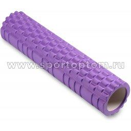 Ролик массажный для йоги INDIGO PVC  IN187 61*14 см Фиолетовый