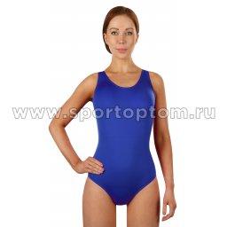 Купальник для плавания женский слитный однотонный 2110