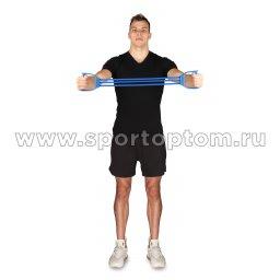 Эспандер плечевой LATEX INDIGO HEAVY (21-30 кг) 3 жгута SM-073 Синий (1)