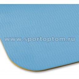 Коврик для йоги и фитнеса INDIGO TPE двусторонний IN106 желто-голубой (6)