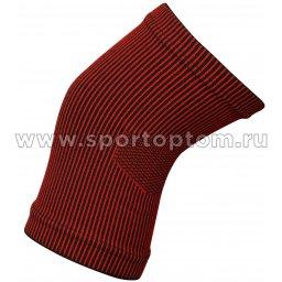 Суппорт колена эластичный RSC  ЛВ23-02 Черно-красный