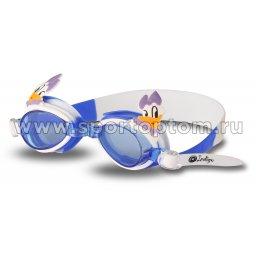 Очки для плавания детские INDIGO  Уточка  1753 G Бело-Голубой