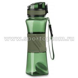 Бутылка для воды с нескользящей вставкой, сеточка, шарик UZSPACE  тритан  6010  500 мл Зеленый