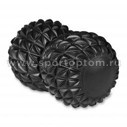 Мячик массажный двойной для йоги IN269 Черный (1)