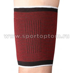 Суппорт бедра эластичный INDIGO 2001B-TSP Черно-красный