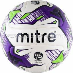 Мяч футбольный №5  MITRE MANTO V12S тренировочный (термопластичн.PU) BB 1071WPF Бело-фиолетовый