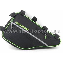 Вело Сумка подрамная  FB-05-4 420*230*65мм  Черно-зеленый