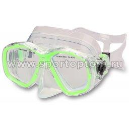Маска для плавания  INDIGO MARLIN  детская IN058 Зеленый
