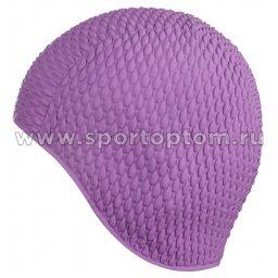 Шапочка для плавания INDIGO Bubble женская  IN079 Фиолетовый