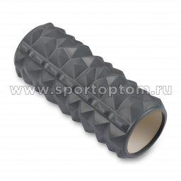 Ролик массажный для йоги INDIGO PVC IN279 33*14 см Серый