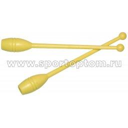 Булавы для художественной гимнастики У717 45 см Желтый