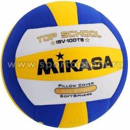 Мяч волейбольный MIKASA  любительский  клееный ISV 100TS-5 Бело-сине-желтый