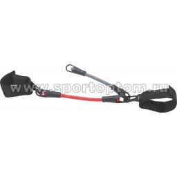 Эспандер для ног PRO SUPRA 2 жгута 1138 Красный, Серый, Черный