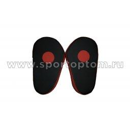 Лапа боксерская прямая большая КЫС и.к.COMBAT красно черный(2)