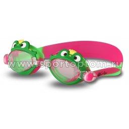 Очки для плавания детские INDIGO  Лягушка  1721 G Зелено-красный