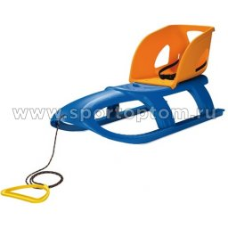 Санки дет. пласт. BULLET SEAT ISPS со спинкой 102,5*40см (PP