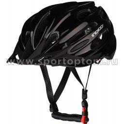 Шлем велосипедный взрослый INDIGO 22 вентиляционных отверстий IN070 55-61см Черный
