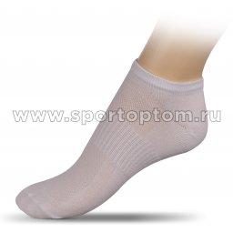Носки спортивные укороченные хлопок ЛВ18 Белый