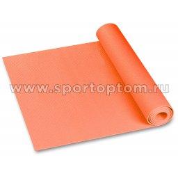 Коврик для йоги и фитнеса INDIGO PVC YG03 173*61*0,3 см Оранжевый