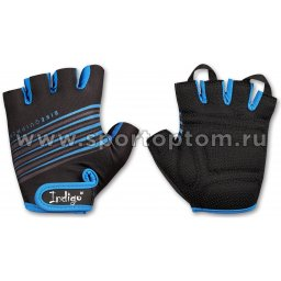 Перчатки вело мужские  INDIGO  SB-01-1575 L Черно-синий