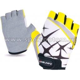 Перчатки вело детские Искра INDIGO  SB-01-8822 Бело-желтый