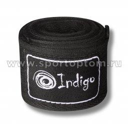 Бинт боксёрский INDIGO  х/б, нейлон  1115 3,5 м Черный