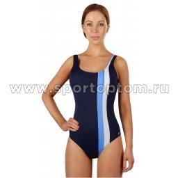 Купальник для плавания SHEPA совместный  женский со вставками 047 Темно-синий