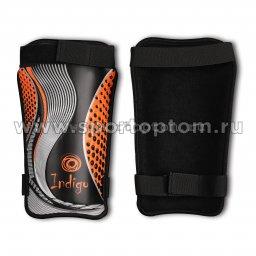 Щитки футбольные INDIGO с ламинированным покрытием  1253 L Черно-оранжевый