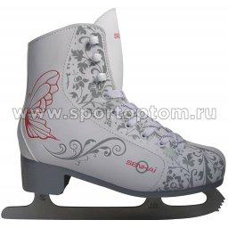 Коньки фигурные для фитнес-катания SENHAI GRETA PW-215 CQ                 Бело-серый