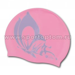 Шапочка для плавания силиконовая INDIGO Бабочка SCBT105 Розовый
