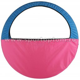 Чехол для обруча (Сумка) INDIGO SM-083 60-90 см Голубо-розовый