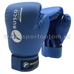Перчатки боксёрские RUSCO SPORT и/к  RS-18 8 унций Синий