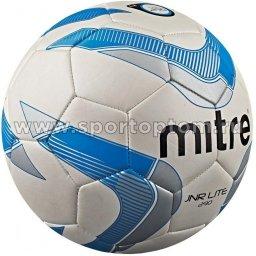 Мяч футбольный №4  MITRE JUNIOR LITE тренировочный (термопластичн.PU) BB 9005WKR Бело-голубо-серый