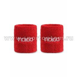 Напульсник махровый (2шт) INDIGO IN266 7,5*8см Красный