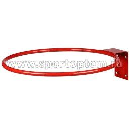 Кольцо баскетбольное без сетки (труба) AN-10 №5 (380 мм) Красный