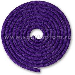 Скакалка для художественной гимнастики Утяжеленная 180 г INDIGO SM-123 3 м Фиолетовый